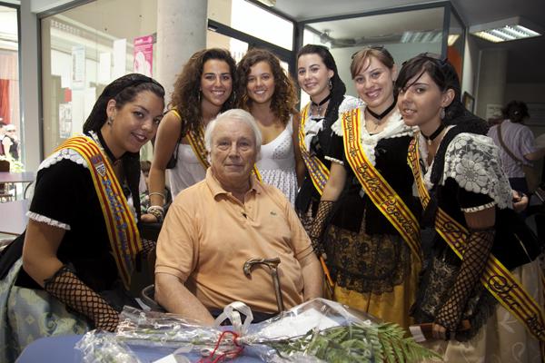 Francesc Garriga va ser un dels poetes homenatjats durant la 3a Festa de la Poesia de Sitges | Foto: Cèlia Sànchez-Mústich.