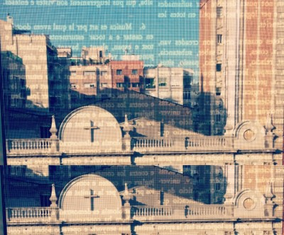 Detall d'una finestra de la Biblioteca Agustí Centelles de Barcelona |Foto:  Laura Basagaña.