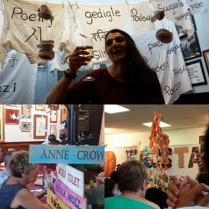 Detalls de la decoració del dinar de poetes, a càrrec d'Angelina Salesas | Foto: Laura Basagaña.