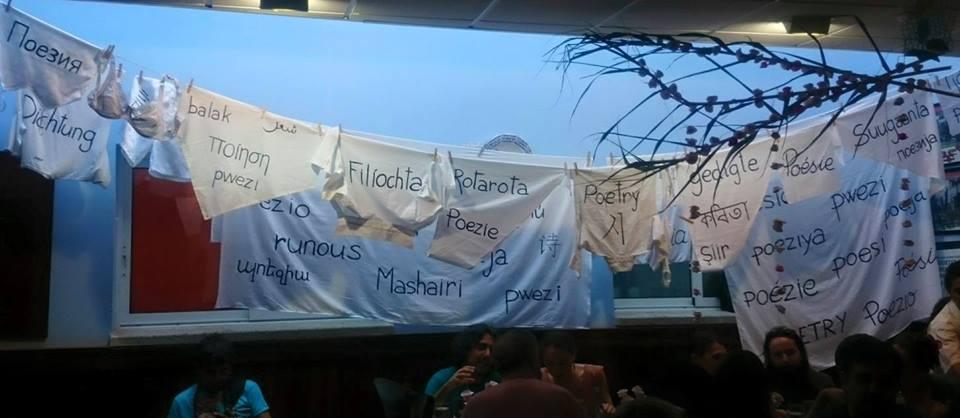 La decoració del dinar de poetes va anar a carrec d'Angelina Salesas | Foto: Carles Arola.