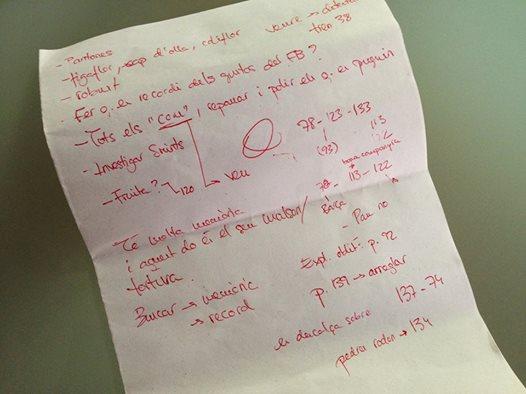 Anotacions de Marta Rojals útils per escriure 'L'altra' | Foto: Marta Rojals.