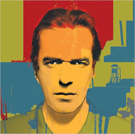 Il·lustració de Martin Amis, feta per Nial McDiarmid a partir d'una foto signada per John Ritter | Font: Martin Ami's Web.