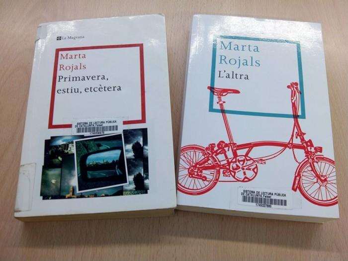 Les dues primers novel·les de Marta Rojals | Foto: Biblioteca Salvador Estrem.