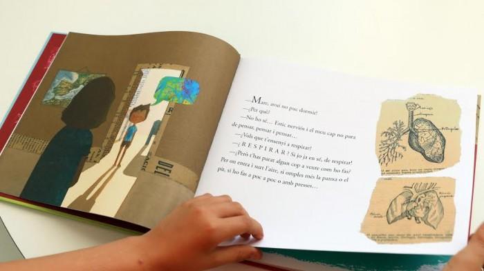 Pàgines interiors del conte 'Respira' d'Inês Castel-Branco, publicat a la col·lecció Petit Fragmenta de Fragmenta Editorial | Foto: Fragmenta Editorial.