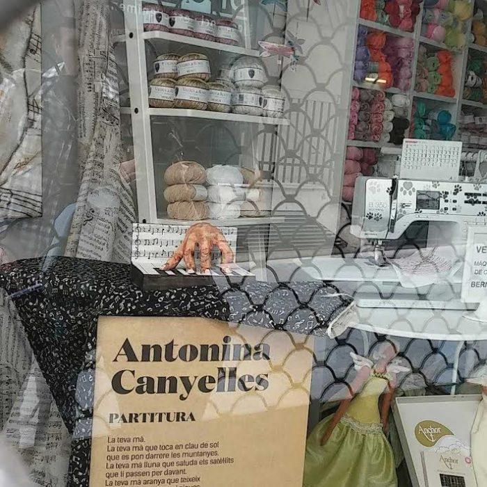 Aparador dedicat als versos d'Antonina Canyelles | Foto: Laura Basagaña.