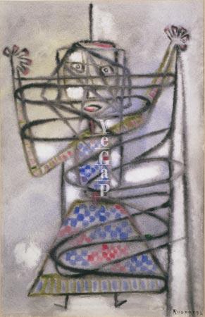 Algunes pintures de Rodoreda suggereixen un fort sentiment d'opressió | Foto cedida pel banc d'imatges Vegap.