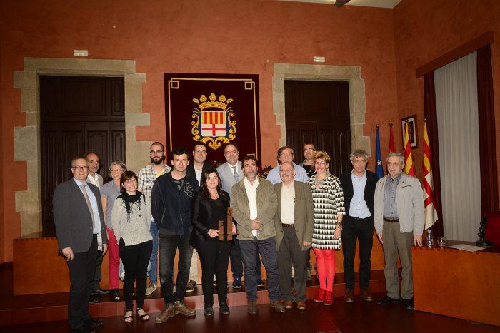 Entrega del premi Josep Maria Planes 2016, a l'Ajuntament de Manresa | Foto: Any Planes.