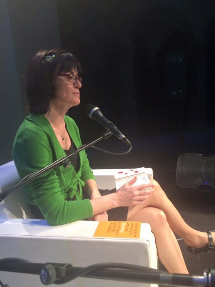 La poeta Maria Josep Escrivà, a l'acte d'homenatge de Marc Granell | Foto: ILC.