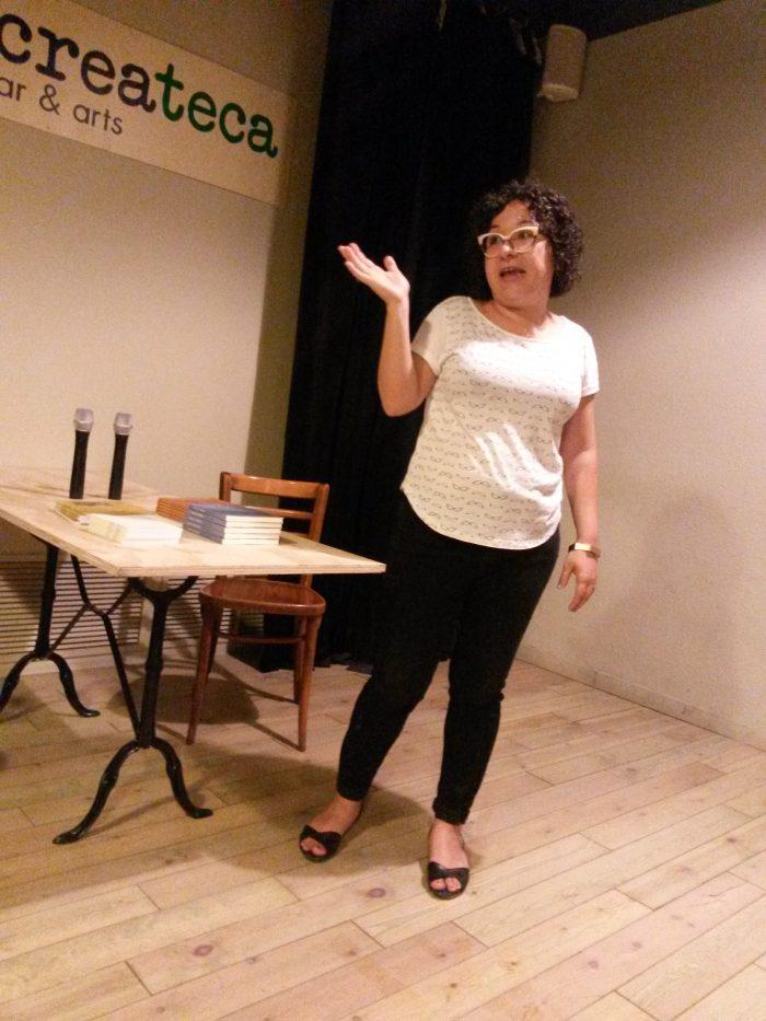 Maria Antònia Massanet presenta la nova temporada de la Poeteca | Foto: Mireia Companys.