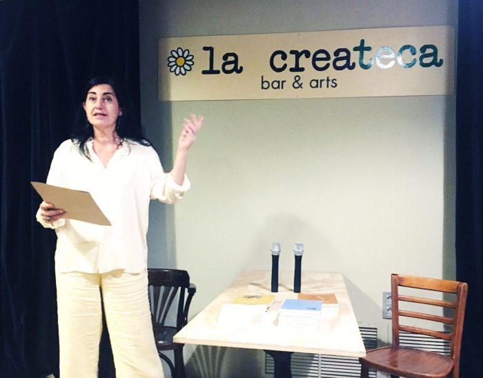 Odile Arqué recita poemes inèdits | Foto: Mireia Companys.