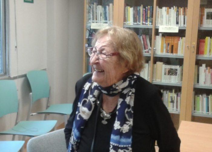 Montserrat Abelló, quan va ser homenatjada a la Institució de les Lletres Catalanes el Dia de la Poesia en Català | Foto: Laura Basagaña.