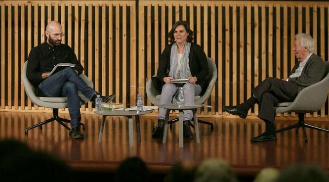 Lluís Nacenta, Mònica Pagès i Josep Maria Mestres Quadreny, al CCCB | Foto: © CCCB, Miquel Taverna.
